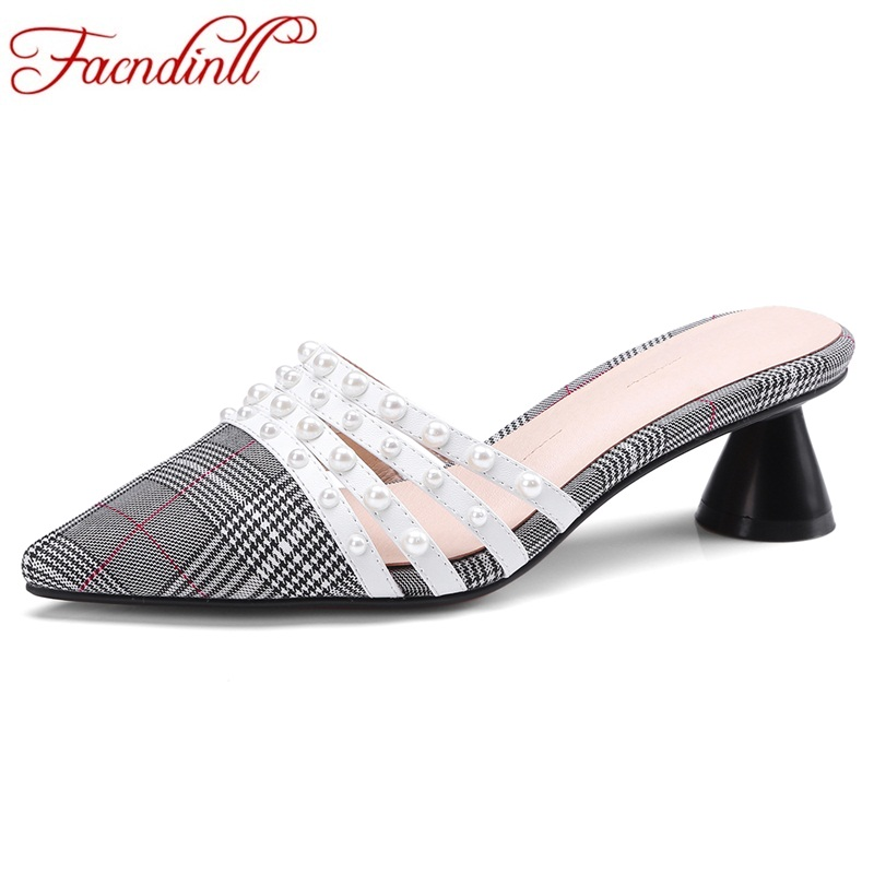 4408d632e1 Grey Sandals Sexy Line Women Grey High Female Footwear Toe Ladies Slippers  Facndinll Pointed 2019 Woman Shoes Heels dark Red gray ...