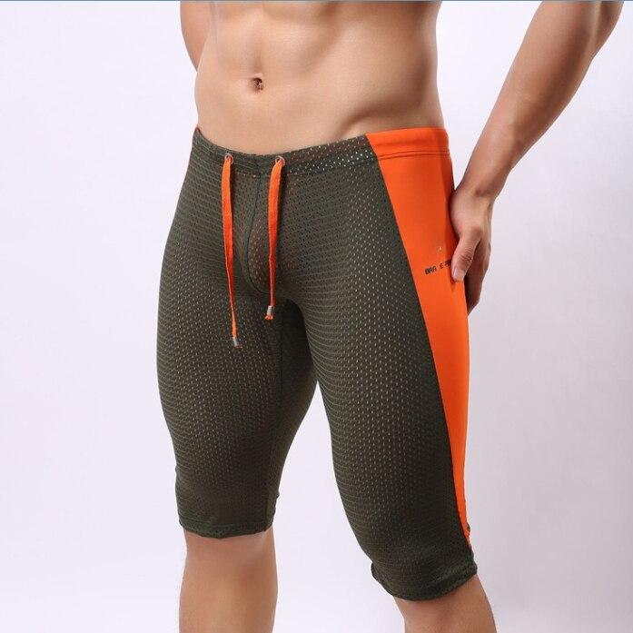 Pantalones cortos de playa para hombre sexy Tight Short Boxer largo - Ropa de hombre