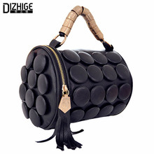 2016 Summer Luxury Tasel Button Women Shoulder Mini Bags Famous Brand Pu Leather Cartera Hombre Bucket Bag Bolsos De Mano
