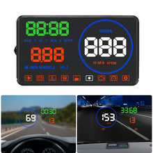 XYCING M9 OBD2 Car HUD 5.5 inch Heads Up Display Windshield Projector Speedometer RPM Fuel Consumption