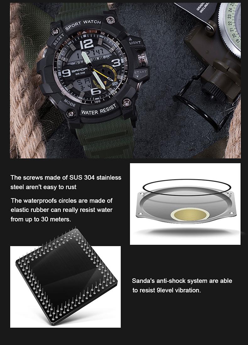 HTB1AUBtQVXXXXXtXpXXq6xXFXXXL - 2017 SANDA Dual Display Watch Men G Style Waterproof LED Sports Military Watches Shock Men's Analog Quartz Digital Wristwatches