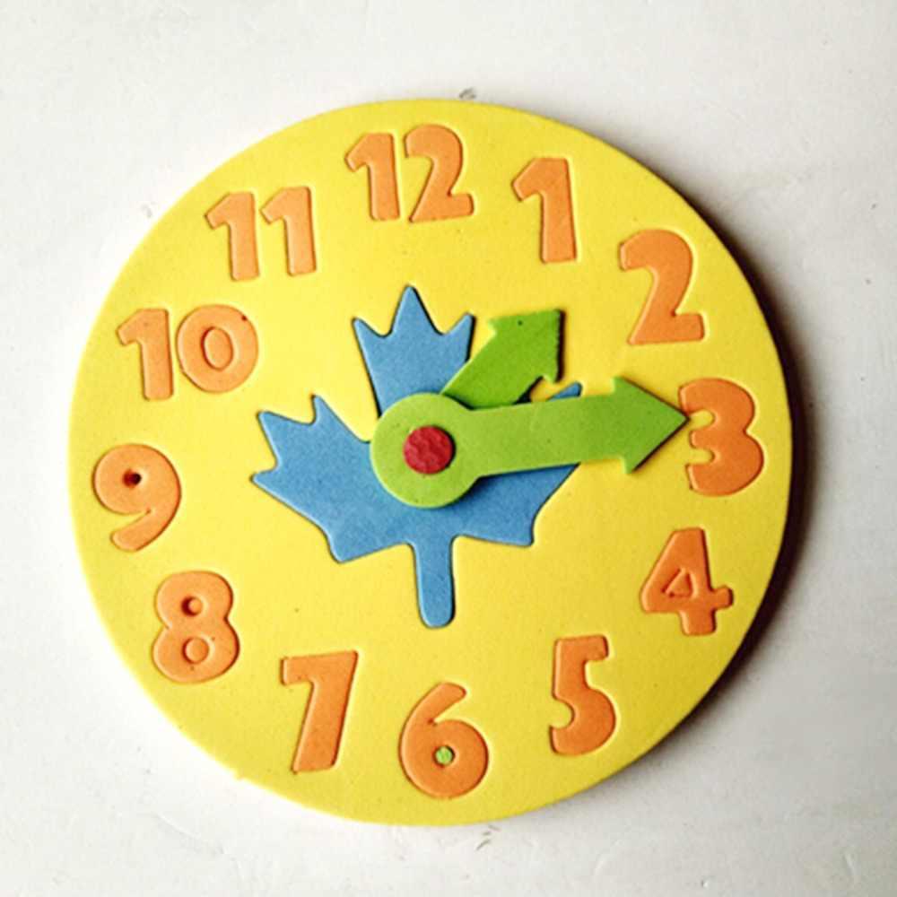 Kawaii קצף שעון מוקדם חינוך כיף פאזל משחק לילדים 3-6 שנים oldClock למידה צעצועי 13*13cm