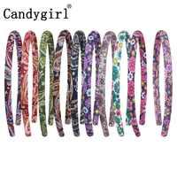 240 pcs DIY โพลีเอสเตอร์ Headbands สาวอุปกรณ์เสริมสำหรับเด็กผู้หญิงโบฮีเมียหลากสีดอกไม้ Hairband ผมวง boho Headwear