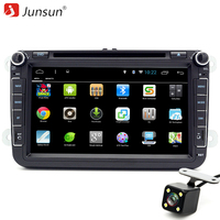 Junsun 2 Din Android 6 0 Car DVD Radio Player 1024 600 For VW Volkswagen POLO