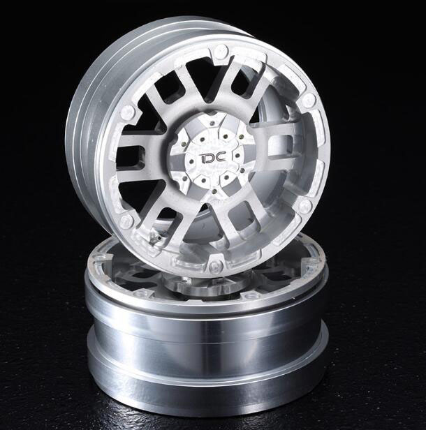 Free Shipping 2PCS 1/10 Scale RC Crawler Car Model Wheels 1.9 T04 Version Metal Wheel Hubs Spare Parts Diameter 53mm