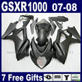 Custom OEM motorcycle fairings kit for SUZUKI GSXR 1000 2007 GSXR 1000 2008 GSXR1000 K7 K8 07 08 matte black bodywork fairing pa