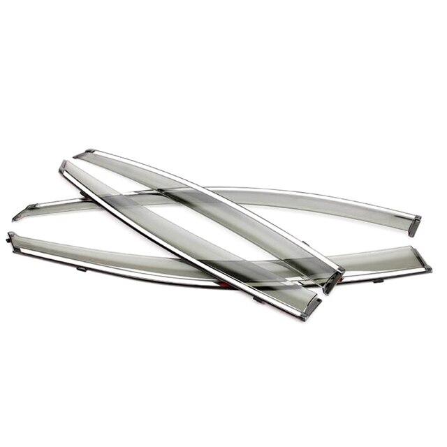 Для Kia Optima K5 2016 Пластиковые Окна Visor Обтекатели Дождь Солнце Щит Гвардии Комплект Стайлинга Автомобилей аксессуары!
