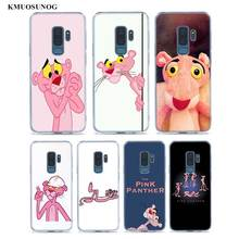 Transparent Soft Silicone Phone Cases Pink Panther For Samsung Galaxy S9 S8 Plus S7 S6 S5 Edge Note 9 8