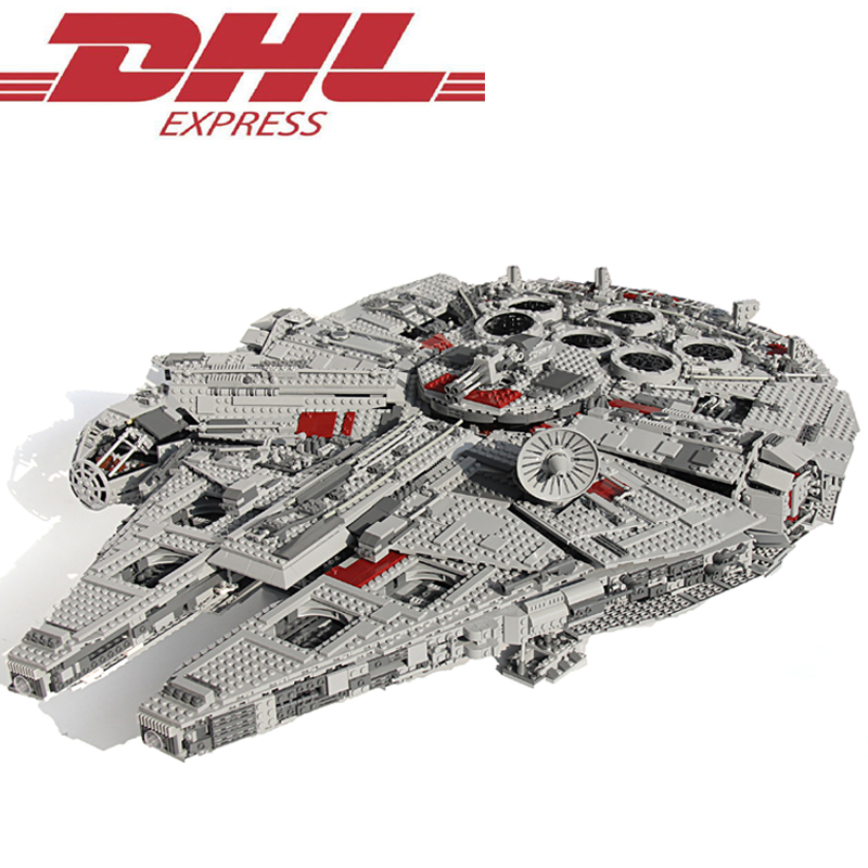 2017 New 5265Pcs Star Wars Ultimate Collector's Millennium Falcon Model Building Kits Blocks Bricks Toys For Children Gift 10179 color metal 3d puzzle star wars millennium falcon for adult 2016 new batman flying wing kylo ren shuttle 3d nano jigsaw puzzles