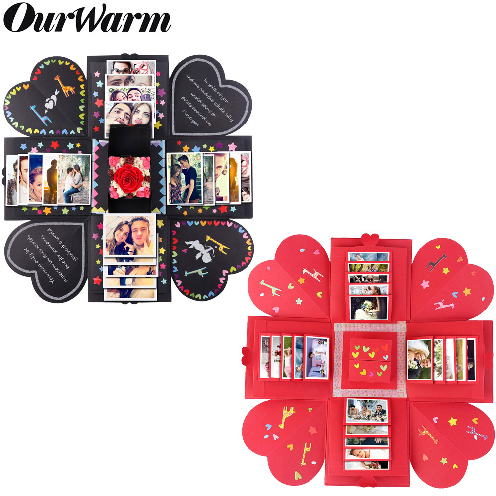 OurWarm Explosion Gift Box Wedding Favors And Gifts Birthday Party Supplies Surprise Box With DIY Accessories Kit Photo Album
