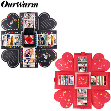 OurWarm Explosion Gift Box Wedding Favors and Gifts Birthday Party Supplies Surprise with DIY Accessories Kit Photo Album