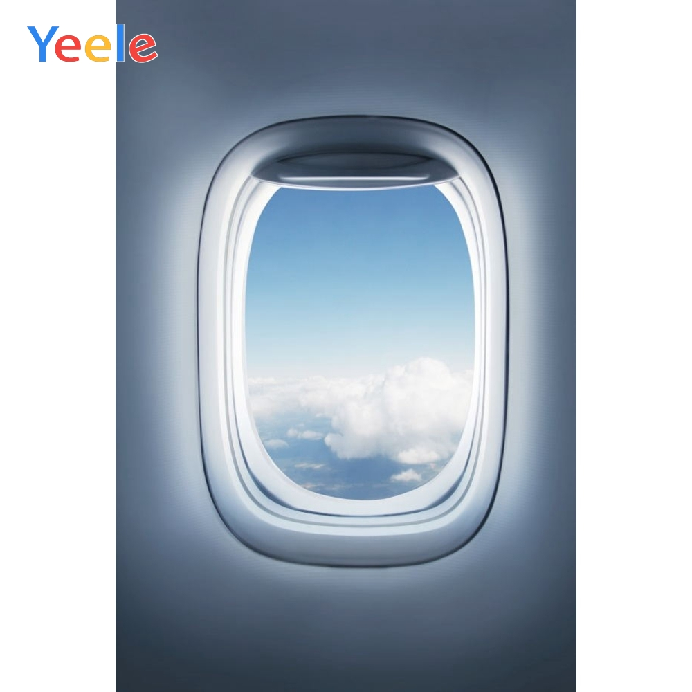 Yeele On the airplane Outside Window Sky Photographic Backgrounds Professional Camera Photography Backdrops For The Photo Studio