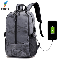 Outdoor Waterproof Large 17 Inch Laptop Bag Man USB Design Sports Backpack Travel Backpack Climbing Camping School Bags