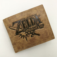 Khaki Multilayer Japanese Anime Game The Legend Of Zelda Theme PU Short Wallet