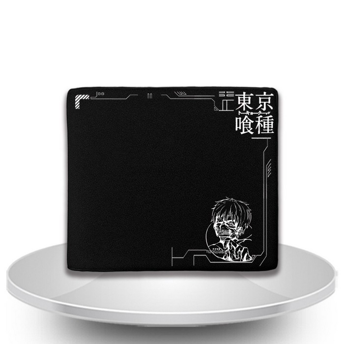 New Anime Wallets Tokyo Ghoul Men Leather PU Wallet Cosplay kaneki ken Bifold Short Purse Gift