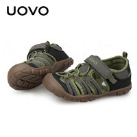 Toddler Baby Sandals Uovo Brand Boys Closed Toe Fashion Sneakers Size 28 32 Summer Anti skid Beach Shoes High Quality Sandals