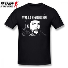 VIVA LA REVOLUCION Che Guevara Men T Shirt Summer Camiseta Oversize O-neck Cotton Custom Short Sleeve Mens T Shirts(China)