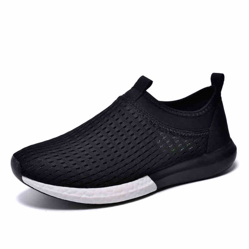 ФОТО Casual Shoes Men 2017 New Mesh Breathable Slip On Flats Jogging Shoes Footwear Trainers Crossfit Tenis Masculino Adulto T031604