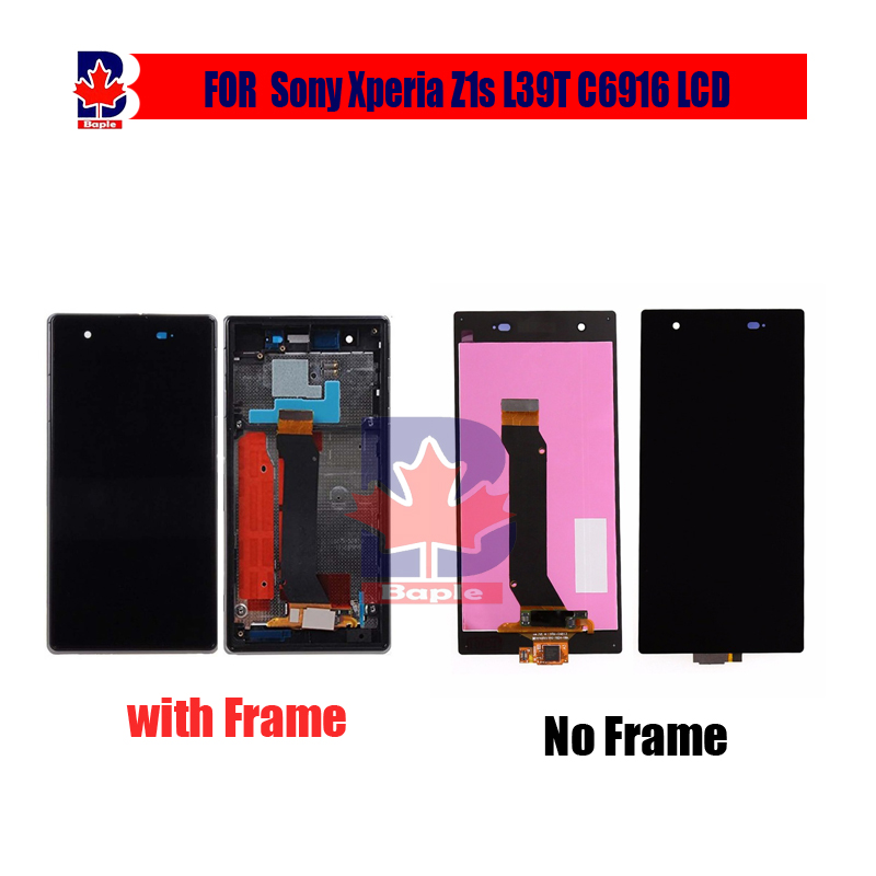 For Sony Xperia Z1S L39T C6916 Full LCD Display Touch Screen Digitizer Sensor Assembly Complate With Frame Black+Tracking for sony xperia z1s l39t c6916 full lcd