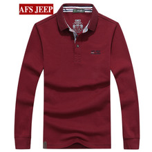 HOT promote 2016 new style Long sleeved polo t male youth males's cotton informal polo shirt 5 shade M-3XL Four seasons can put on