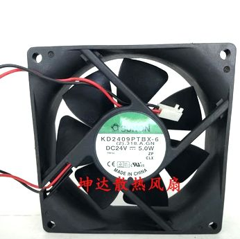 Free Shipping original SUNON KD2409PTBX-6 90x90x25mm 9025 9CM 24V 4.5W converter fan free shipping new original sanyo 9bam24p2g17 dc24v 0 9a 97 33mm 9cm large wind blower cooling fan