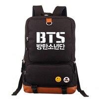 KPOP BTS Music SUGA J HOPE RAP MONSTER V JUNG KOOK Boy Girl School bag Women Bagpack Teenagers Schoolbags Canvas Men Backpack