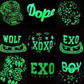 120pcs/lot 2015 new fahion glow in the dark hip hop snapback cap hat baseball hat cap