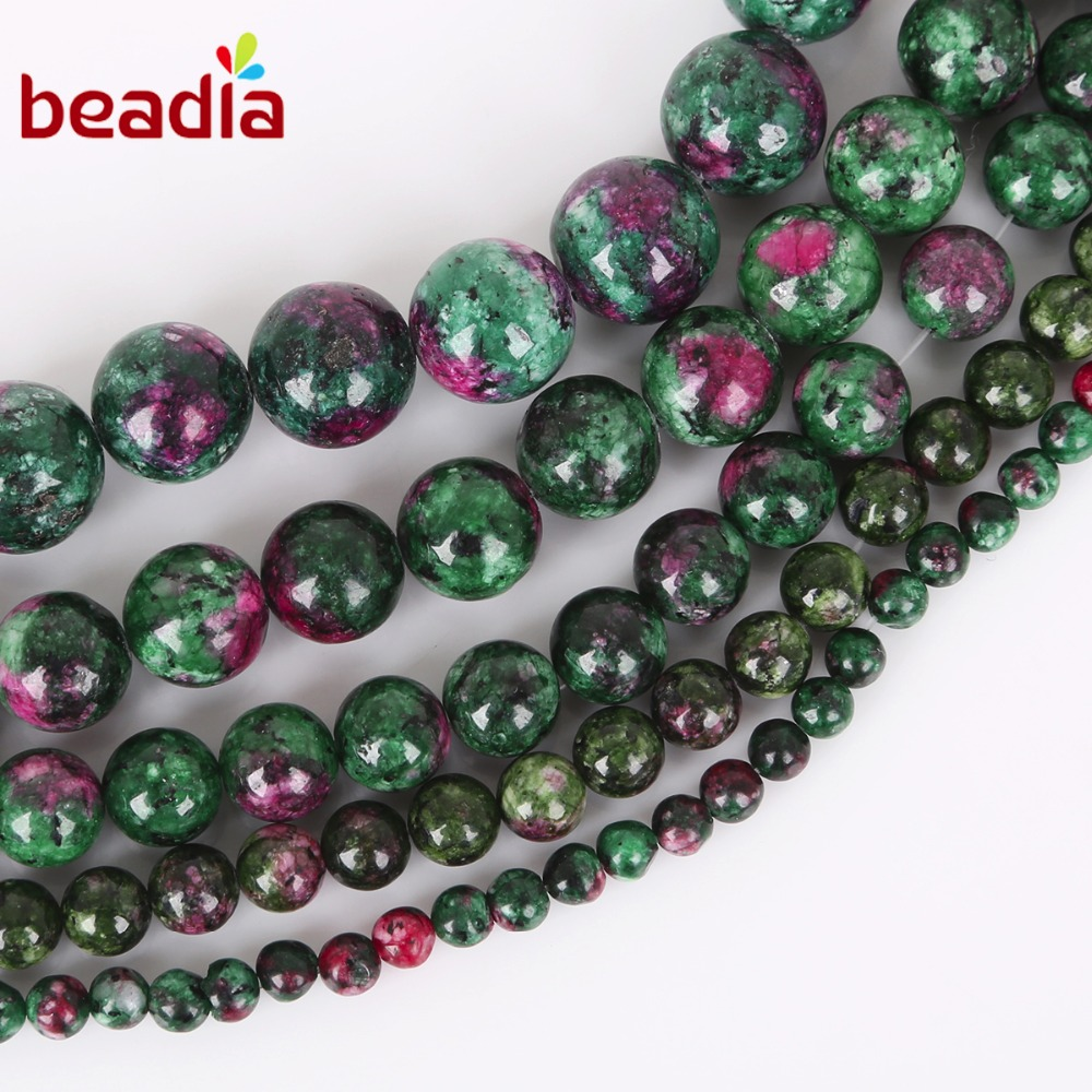 Jewelry & Accessories Wholesale Charm Natural Epidote Zoisite Dye Color Stone Beads For Jewelry Making Diy Bracelet Necklace 6 8 10 12 Mm Strand 16