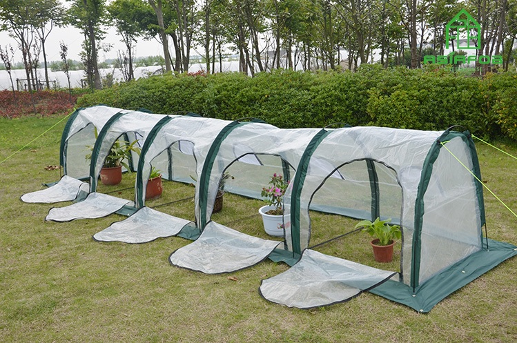 grow tunnels cold frame greenhouse with fiberglass stud and pe coated 210d oxford fabric 78x78cm package