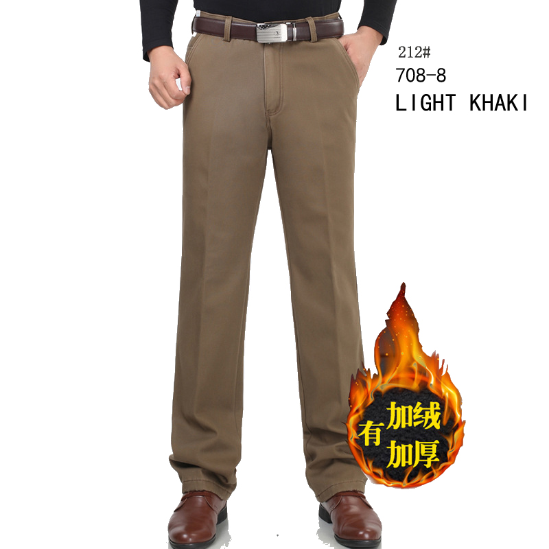 Baru musim dingin Ditambah beludru celana kasual pria celana setelan - Pakaian Pria - Foto 4