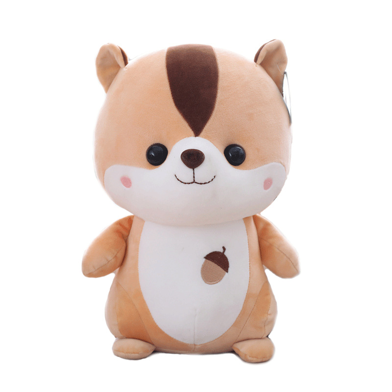 25cm Children Plush Squirrel Soft Appease Mini Playmate Doll Baby Toy Kids Toys Pillow Plush Toys Stuffed Gift To Girlfriend