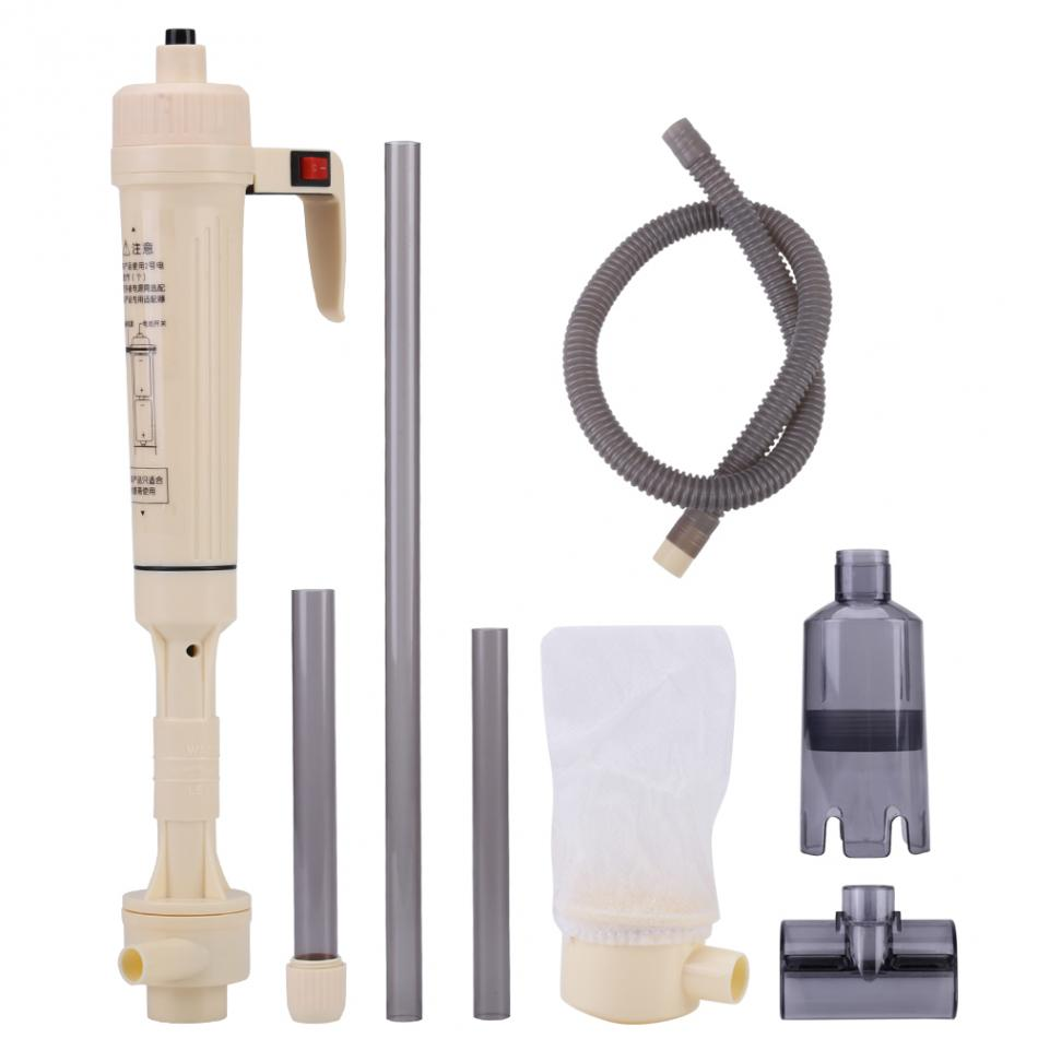 Electric Aquarium Cleaner Siphon Gravel Suction Pipe Filter Fish Water Change Cleaning Filter Water Changer Sand Hose Tube