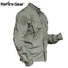 Refire gear, армейская камуфляжная рубашка в стиле милитари для мужчин, водонепроницаемые армейские тактические рубашки SWAT, Весенняя верхняя одежда, много карманов, рубашка карго