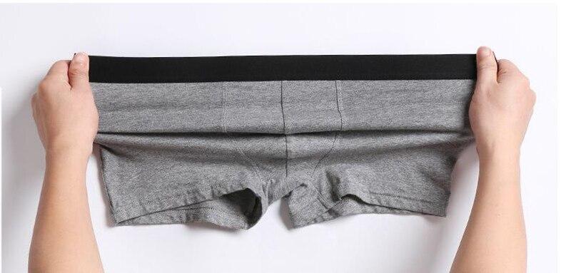 Image 5 - Mens Panties Underpants Man Boxer Mens Underwear Cotton Man Big Short Breathable Solid Flexible Shorts Boxers HommeBoxers   -