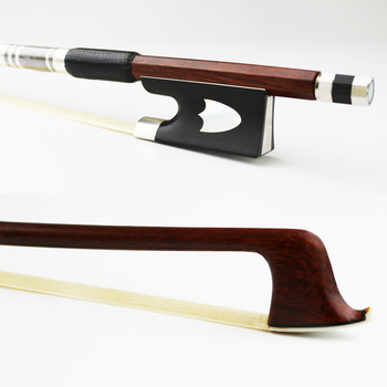 Free Shipping New 4/4 Size Pernambuco Violin Bow Round Stick Natural Mongolia Horsehair Ebony Frog Violin Parts Accessories 202c 4 4 woven carbon fiber cello bow ebony frog with fleuron nickel silver fitted natural horsehair violin parts accessories