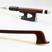 Free Shipping New 4/4 Size Pernambuco Violin Bow Round Stick Natural Mongolia Horsehair Ebony Frog Violin Parts Accessories