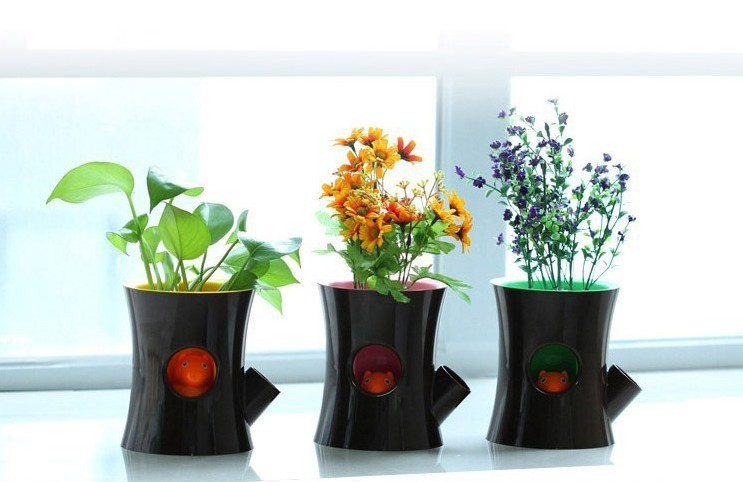 office flower pots. 1pcslot creative flowerpot green garden decoration squirrel self watering flower pot for office or homein pots u0026 planters from home on l