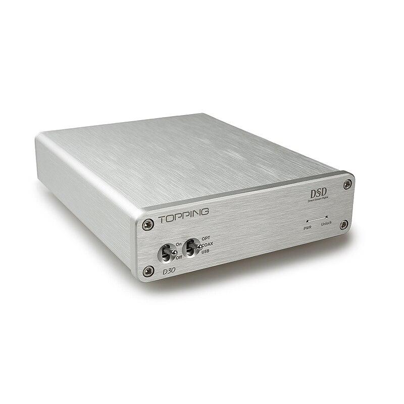 Nouveau décodeur Audio D30 DSD décodeur USB DAC Coaxial Fiber optique XMOS CS4398 amplificateur 24Bit 192 KHz