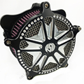 Novo Sistema de Air Filter Cleaner Intake para Harley Softail Touring Road King Softail Dyna Super Glide Património Rua Classe 01-07
