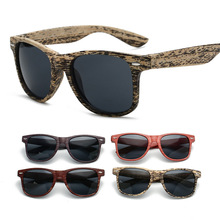 XIWANG New Wood-like Classic Sunglasses for Women in 2019 Protecting Eyes from Ultraviolet Fashion Personality 6028