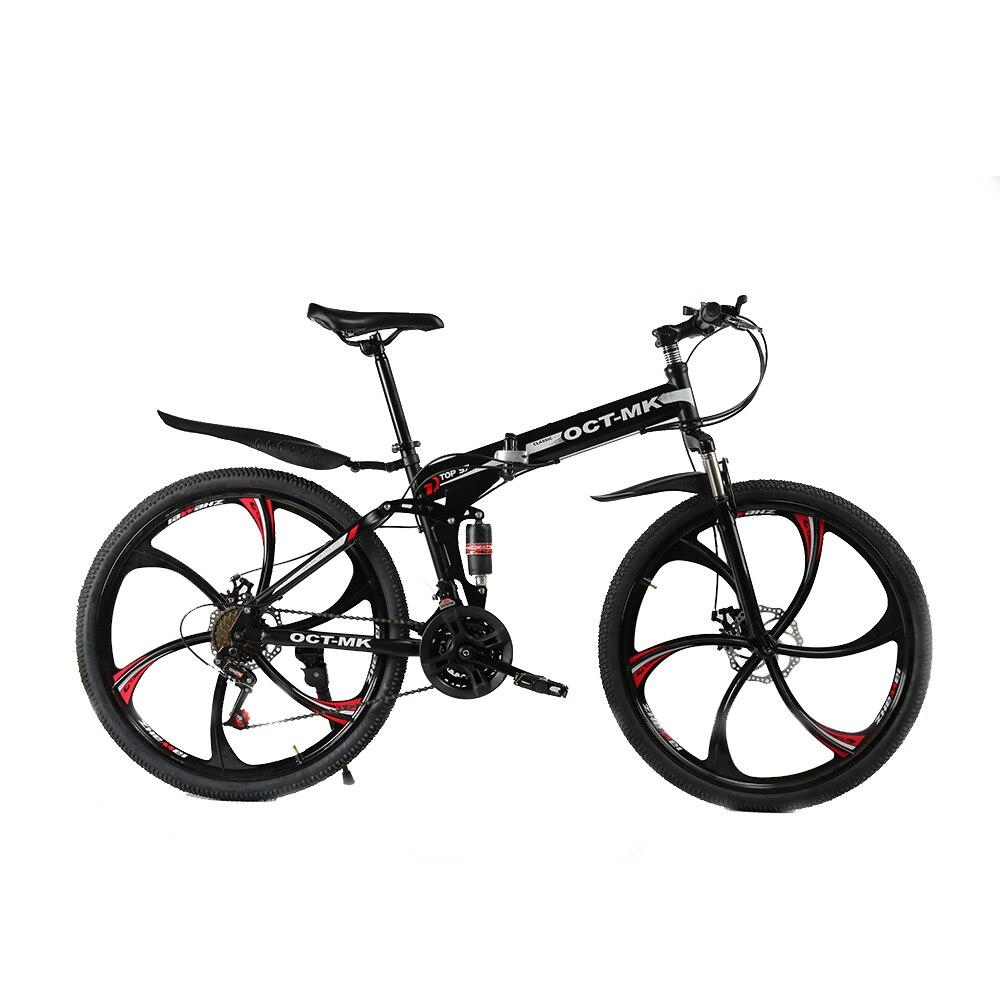 Russe en gros et entrepôt Top qualité 26 Pouce montagne de pliage vélo 21 Vitesses Double Frein À Disque vélo complet