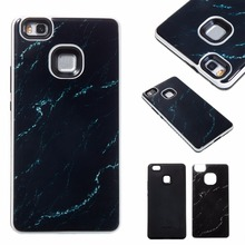 Phone Case For Huawei P8 Lite 2017 P9 Lite Y6II Slim Thin 2 in 1 Drops of Glue Marble Design PC+TPU Shockproof Back Cover Case