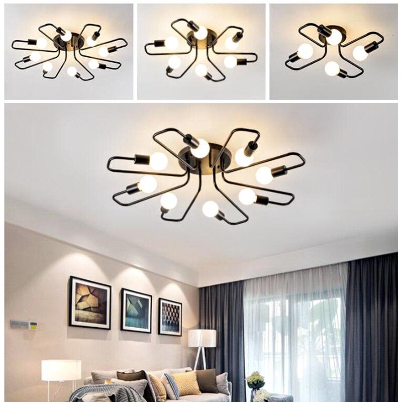 Retro 4/6/8 Köpfe LED Edison Decke Lampe Schlafzimmer Wohnzimmer Anhänger Licht Kronleuchter Wohnkultur Vintage beleuchtung E27 220V