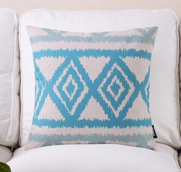 Синий Морской Геометрическая Подушка/almofadas чехол кресло кровать, средиземноморская наволочка, декоративные подушки