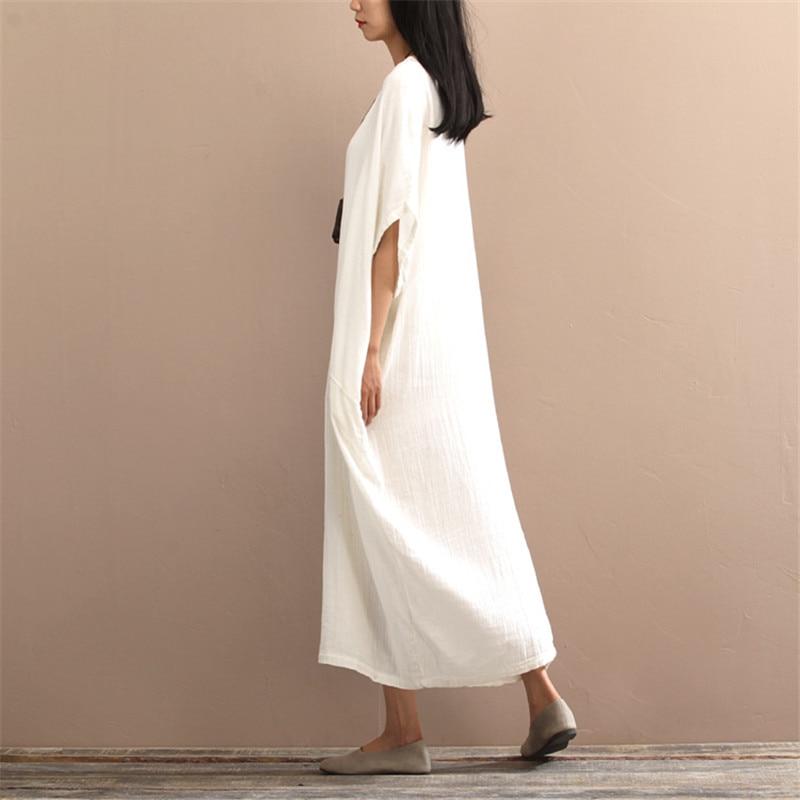 SCUWLINEN 2019 Musim Semi Musim Panas Gaun Vintage Panjang Plus - Pakaian Wanita - Foto 5
