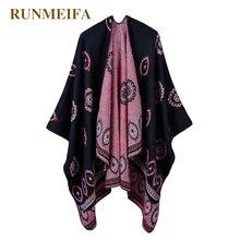 6 видов цветов женский шарф осень/зима теплый шарф, шаль для 50% акрил и 50% полиэстер пончо 130*150 см палантин шаль