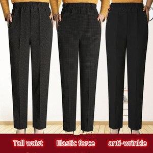 Image 1 - Женские длинные брюки с высокой талией, Зимние Повседневные Леггинсы большого размера