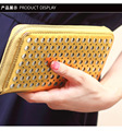 European and American fashion leather gold silver hand bag wallet
