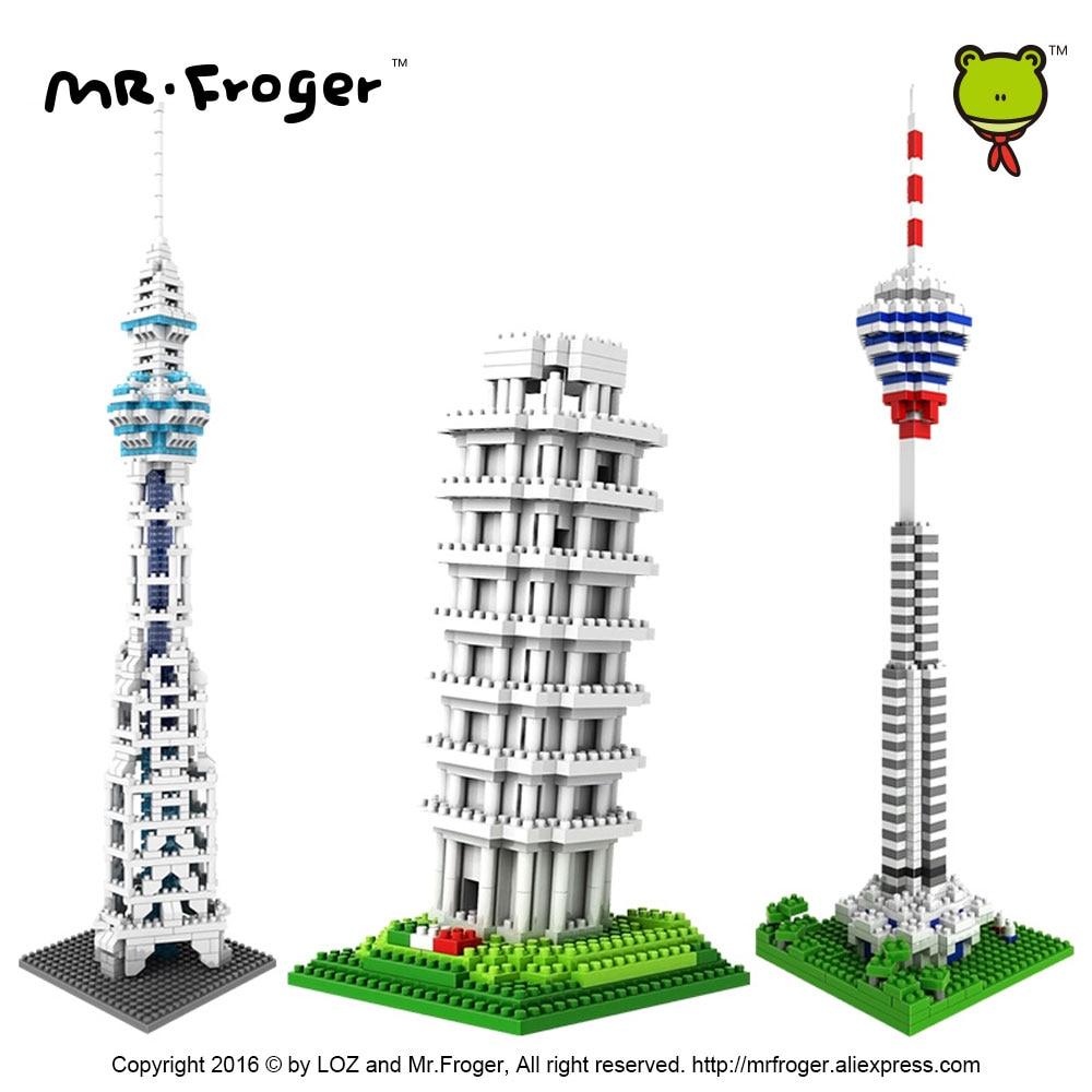 Mr.Froger LOZ Tower of Pisa Diamond Block World Famous Architecture - Byggklossar och byggleksaker - Foto 3