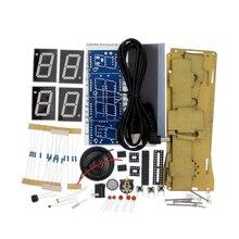 ชุด DIY รุ่นเสียงดิจิตอลนาฬิกาอิเล็กทรอนิกส์ 51 Single Chip นาฬิกาอิเล็กทรอนิกส์ DIY LED Suite YD 030 (ไม่มีแบตเตอรี่)